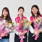 「オーストラリアオープン2017」優勝の奥原希望選手、松友美佐紀選手、高橋礼華選手