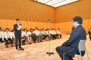首相官邸を表敬訪問